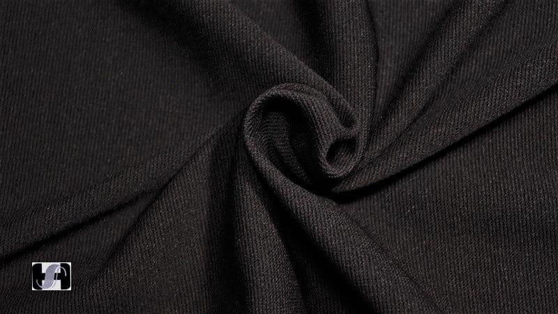 42db87fea6c Black Ottoman Spandex Fabric 95% Polyester 5% Lycra