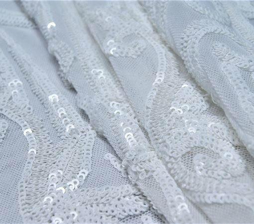 spandex - DSC09839 510x450 - White Sequins On White Nylon Spandex Mesh