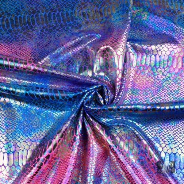 Hot Pink/ Royal Rattles Snake two tone Print #4