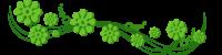 —Pngtree—green flower plant dividing line_4506152