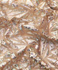 Abstract Metallic Foil Mesh