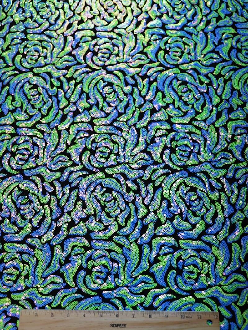 Rose Pattern Sequins